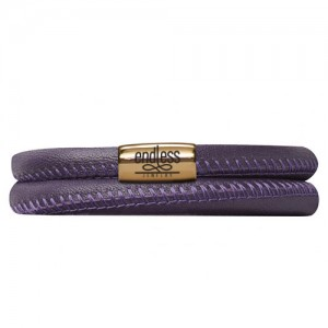 Endless Jewelry Purple Double Bracelet Gold Lock 12506