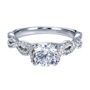 Gabriel 14 Karat Contemporary Engagement Ring ER7796W44JJ