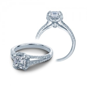 Verragio Platinum Couture Engagement Ring Couture-0378