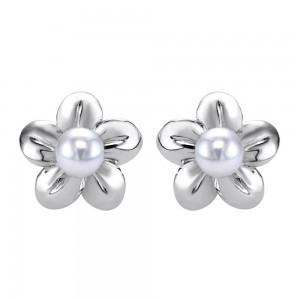 Gabriel Fashion Silver Floral Stud Earrings EG11666SVJPL