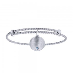 Gabriel Fashion Silver Two-Tone Soho Bangle Bracelet BG3573MXJLB