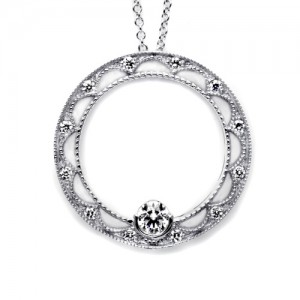 Tacori Diamond Necklace Platinum Fine Jewelry FP655LG