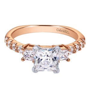 Gabriel 14 Karat Contemporary Engagement Ring ER4020T44JJ