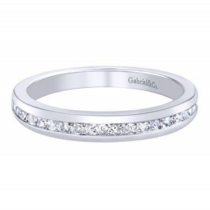 Gabriel 14 Karat Contemporary Wedding Band WB6597W44JJ