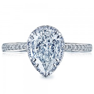 Tacori 2620PS10X7P 18 Karat Dantela Engagement Ring