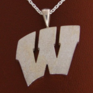 "UW Motion ""W"" Sterling Silver Pendant - Extra Large"