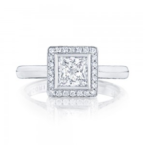 304-25PR55 Platinum Tacori Starlit Engagement Ring