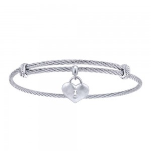 Gabriel Fashion Silver Two-Tone Soho Bangle Bracelet BG3580MXJJJ