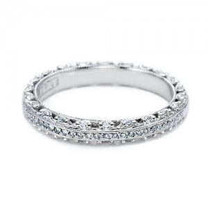 Tacori Platinum Crescent Silhouette Wedding Band HT2370P12