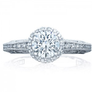 Tacori 2618RD6 18 Karat Reverse Crescent Engagement Ring