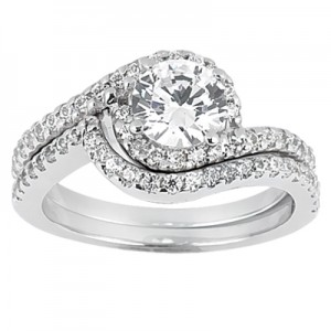 Taryn Collection Platinum Diamond Engagement Ring TQD A-7921