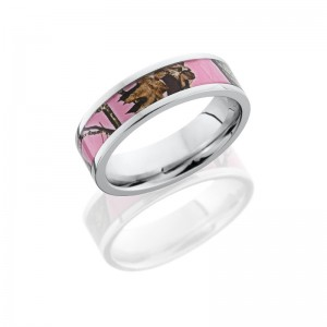 Lashbrook CC6F14/MOCPB POLISH Camo Wedding Ring or Band