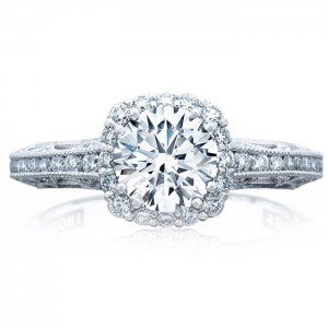Tacori 2618CU65 18 Karat Reverse Crescent Engagement Ring