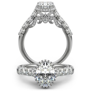 Verragio Insignia-7100OV Platinum Engagement Ring