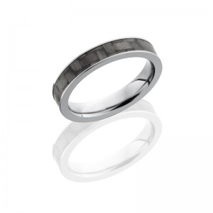 Lashbrook C4F13-CF POLISH Carbon Fiber Wedding Ring or Band