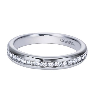 Gabriel 14 Karat Contemporary Wedding Band WB6583W44JJ