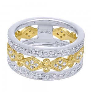 Gabriel Fashion 14 Karat Two-Tone Lace Ladies' Ring LR4364M44JJ