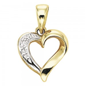 Gabriel Fashion 14 Karat Eternal Love Heart Heart Pendant PH257Y45JJ