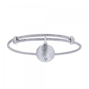 Gabriel Fashion Silver Two-Tone Soho Bangle Bracelet BG3573MXJWS
