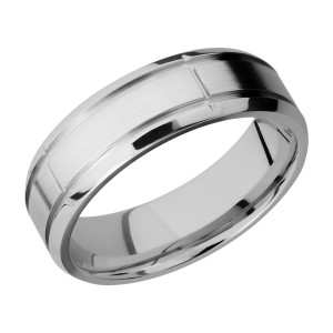 Lashbrook 7B5SEG2.75 Titanium Wedding Ring or Band
