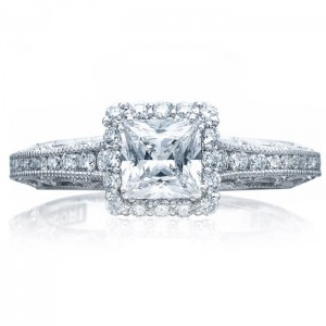 Tacori 2618PR5 18 Karat Reverse Crescent Engagement Ring