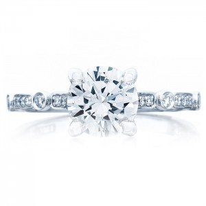Tacori 202-2RD7 18 Karat Sculpted Crescent Engagement Ring