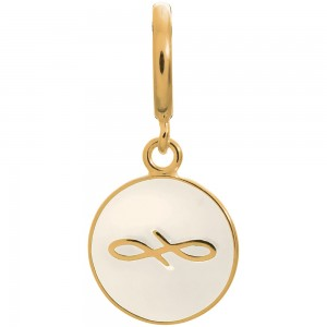 Endless Jewelry White Endless Coin Gold Plated Charm 53345-5
