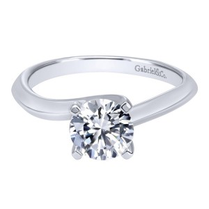 Gabriel 14 Karat Contemporary Engagement Ring ER10202W4JJJ