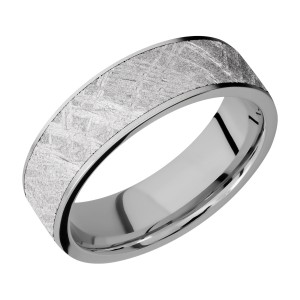 Lashbrook 7F16/METEORITE Titanium Wedding Ring or Band