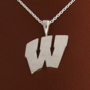 "UW Motion ""W"" Sterling Silver Pendant - Large"