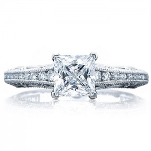 Tacori 2617PR55 18 Karat Reverse Crescent Engagement Ring