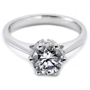 Tacori Platinum Solitaire Engagement Ring 2501RD6