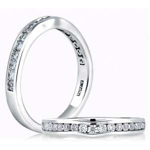A.JAFFE Classic Platinum Diamond Wedding Ring MR1258 / 43
