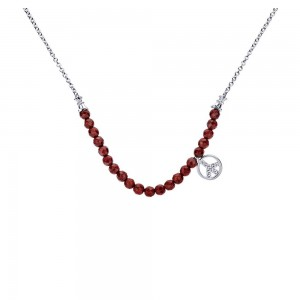 Gabriel Fashion Silver Trends Necklace NK3738SV5GN