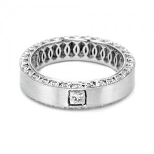 Tacori HT2286PR Platinum Crescent Wedding Band