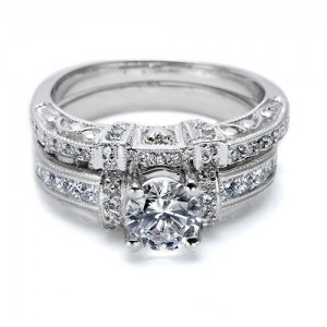 Tacori Platinum Crescent Wedding Band HT2196B