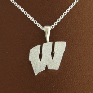 "UW Motion ""W"" Sterling Silver Pendant - Medium"