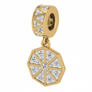 JLo Collection Endless Jewelry White Infinity Drop 18k Gold Plated Charm 3945