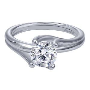 Gabriel 14 Karat Contemporary Engagement Ring ER10257W4JJJ