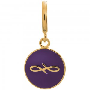 Endless Jewelry Violet Endless Coin Gold Plated Charm 53345-4