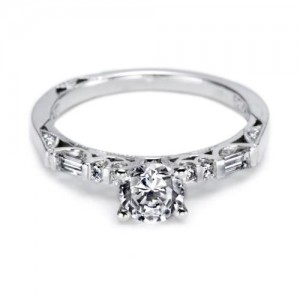 Tacori Platinum Simply Tacori Solitaire Engagement Ring 2585RD55