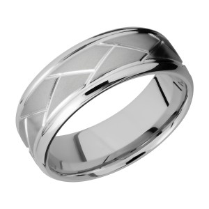 Lashbrook 8BFLATWEAVE Titanium Wedding Ring or Band