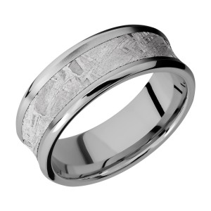 Lashbrook 8CB15/METEORITE Titanium Wedding Ring or Band