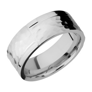 Lashbrook 8F1GOCHR Titanium Wedding Ring or Band