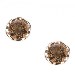 SE105P17 Tacori Color Medley Crescent Crown Stud Earrings