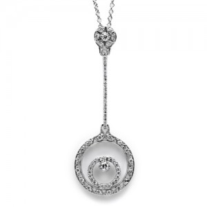 Tacori Diamond Necklace Platinum Fine Jewelry FP588