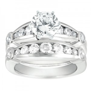 Taryn Collection Platinum Diamond Engagement Ring TQD A-917