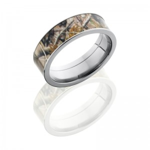 Lashbrook CAMO7F16-RTAP POLISH Camo Wedding Ring or Band