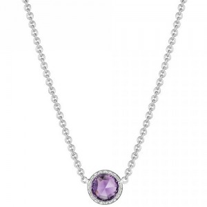SN15401 Tacori 18k925 Lilac Blossoms Necklace Silver & Gold