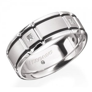 Verragio Platinum In-Gauge Diamond Wedding Band RUD-8904